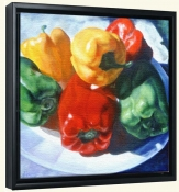 Just a Family of Peppers   -Canvas Art Print