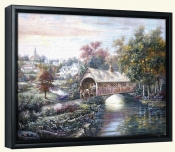 CV-Pheasant River Bridge -Canvas Art Print