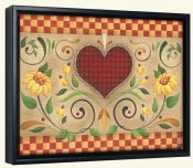 AA-Hearts and Flowers H -Canvas Art Print