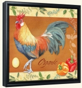 LW-Rooster Organic -Canvas Art Print