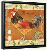 LW-Rooster Natural -Canvas Art Print