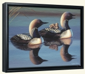 Arctic Loons-CF-Canvas Art Print