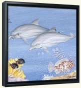 Dolphins   -Canvas Art Print