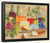 Wine and Cheese I-MT-Canvas Art Print
