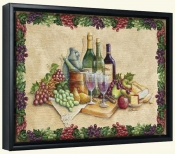 Wine Time with Border-RB-Canvas Art Print