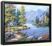 Lakeside Lodge-SK-Canvas Art Print
