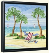 Whimsy Bay Sling Chairs-PB-Canvas Art Print