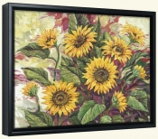 Blazing Sunflowers-PB-Canvas Art Print