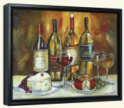 Wine and Cheese-JG-Canvas Art Print