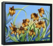 Blackeyed Susans-DF-Canvas Art Print