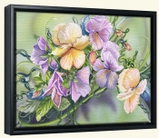 Pansy Paradise-DF-Canvas Art Print