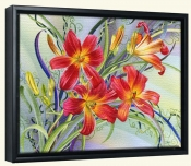 Waltzing Lilies-DF-Canvas Art Print