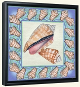 Seashell Square 4-DF-Canvas Art Print