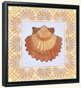 Seashell Square 6-DF-Canvas Art Print