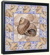 Seashell Square 7-DF-Canvas Art Print