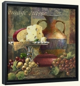 Cheese and Grapes II-Js-Canvas Art Print