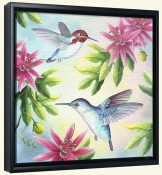 RS-Bee Hummingbirds-Canvas Art Print