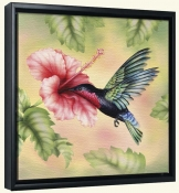 RS-Purple Throated Carib Hummingbird-Canvas Art Print