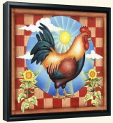 RS-Morning Glory Rooster II-Canvas Art Print