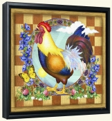 RS-Morning Glory Rooster III-Canvas Art Print