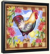 RS-Morning Glory Rooster IV-Canvas Art Print