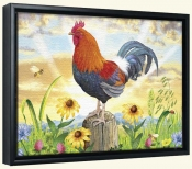 Rooster at Dawn-RS-Canvas Art Print
