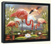 Flamingos-RS-Canvas Art Print
