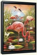 Flamingos II-RS-Canvas Art Print
