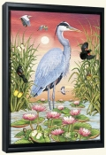 Great Blue Heron-RS-Canvas Art Print