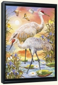 Sandhill Cranes-RS-Canvas Art Print