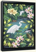 River Egret-RS-Canvas Art Print