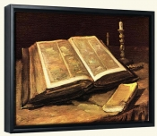 Still life with Bible-Canvas Art Print