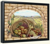 Basket and Apples-RB-Canvas Art Print