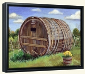 Large Barrel-TK-Canvas Art Print