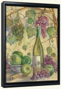 TK-Wine with Apples-Canvas Art Print