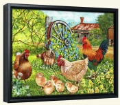 Farmyard Family-VS-Canvas Art Print