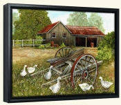 Goose Steps-VS-Canvas Art Print