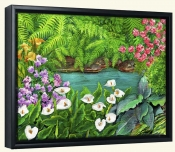 Arums and Stream-VS-Canvas Art Print