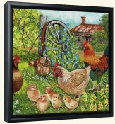 Farmyard Family II-VS-Canvas Art Print