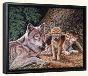 Wolf Den-RD-Canvas Art Print