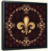 Fleur De Lis Red-LC-Canvas Art Print