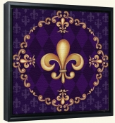 Fleur De Lis Purple-LC-Canvas Art Print