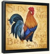 Roosters at Sunrise A-LC-Canvas Art Print