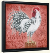 Roosters at Sunrise B-LC-Canvas Art Print