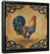 Rustic Rooster Square-LSH-Canvas Art Print
