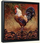 Iron Gate Rooster Square-LSH-Canvas Art Print