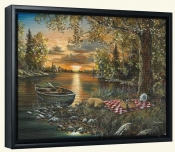 Lakeside Rendezvous-JH-Canvas Art Print