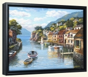 Village on the Water-SK-Canvas Art Print