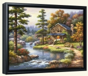 Mountain Creek Cabin-SK-Canvas Art Print