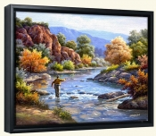 Fly Fishing-SK-Canvas Art Print